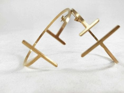 """Parallel"" Skinny Earrings"