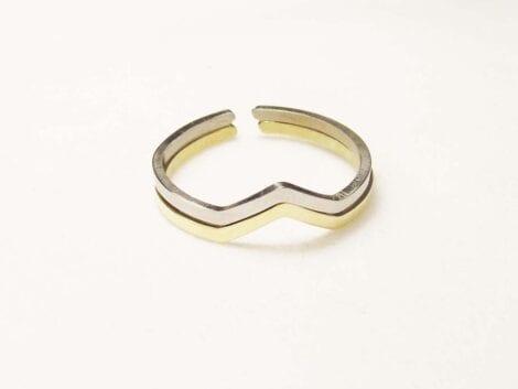 """Chevron"" Skinny Ring"