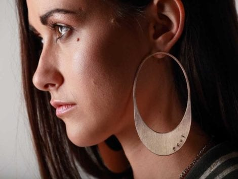 """Memory"" Hoop Earrings"