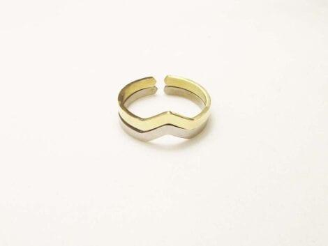 """""""Chevron"""" Thin Ring"""