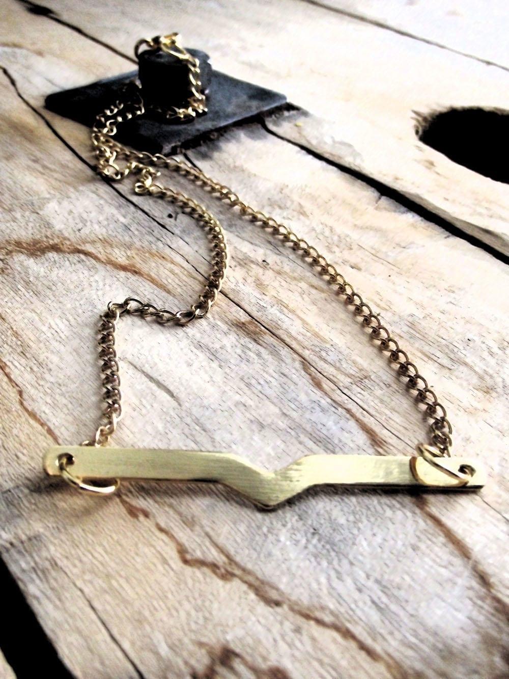 """""""Chevron Bar"""" Necklace"""