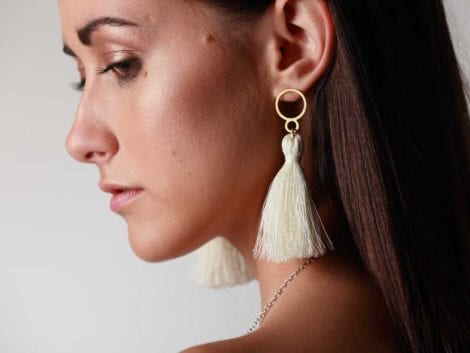 """Flitter Flutter"" Tassel Earrings"