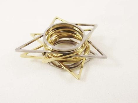 """Triangle"" Ring Set"