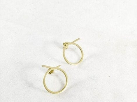 """Mini Knot"" Skinny Earrings"