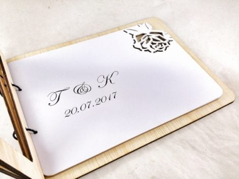 """Roses"" Wedding Guest Book"
