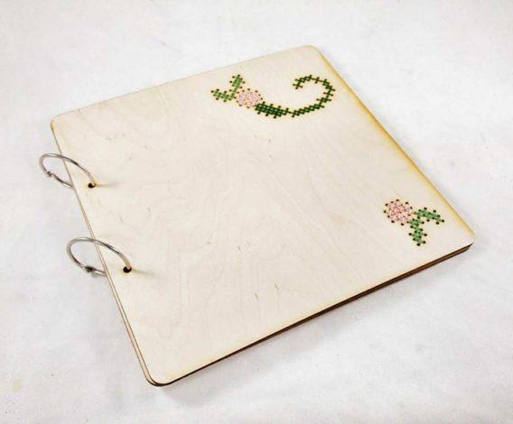 """Cross Stitch"" Wedding Guest Book"