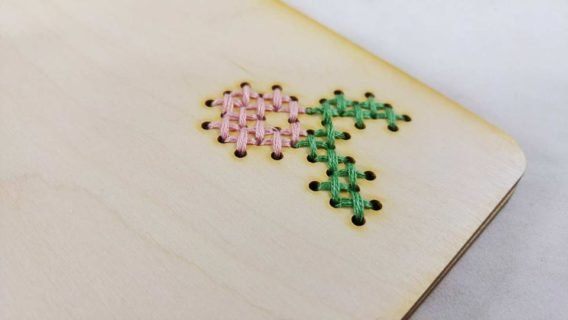 """Cross Stitch"" Wedding Guest Book"