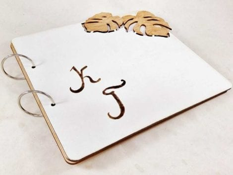 """Monstera"" Wedding Guest Book"