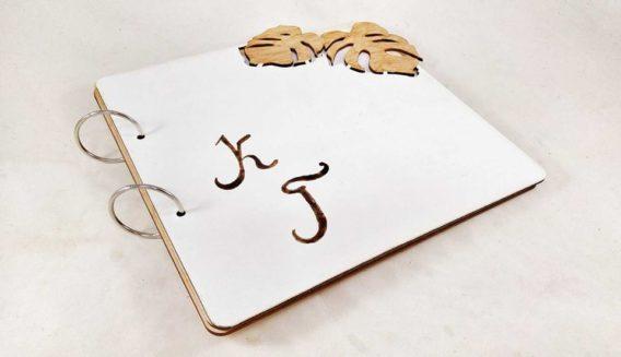 """""""Monstera"""" Wedding Guest Book"""
