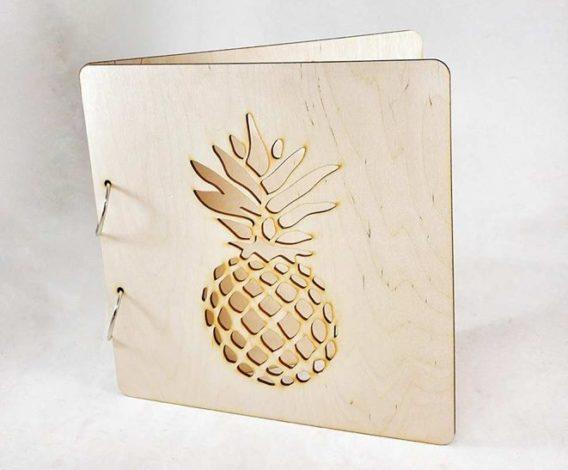"""Pineapple"" Wedding Guest Book"