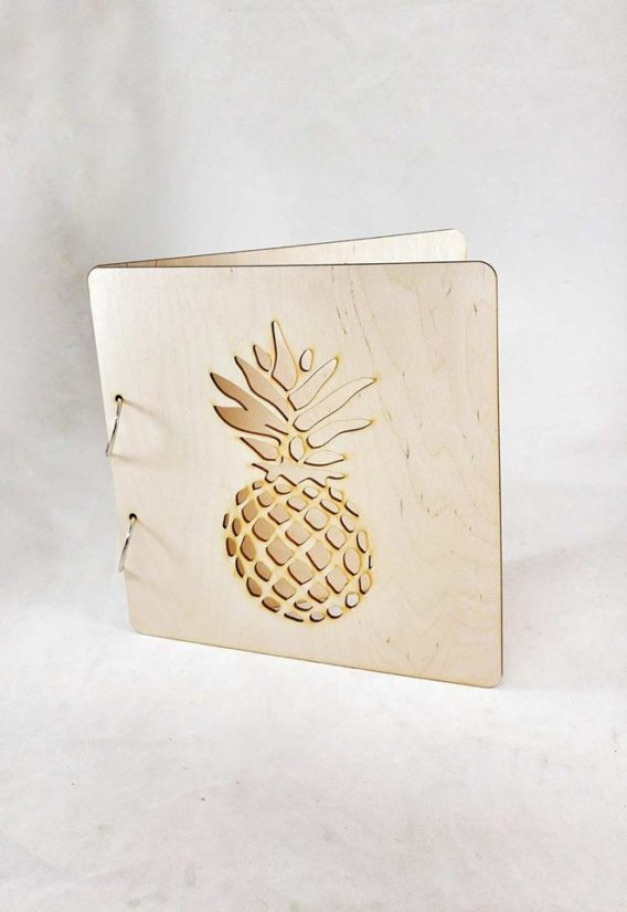 """Pineapple"" Wedding Guest Book"
