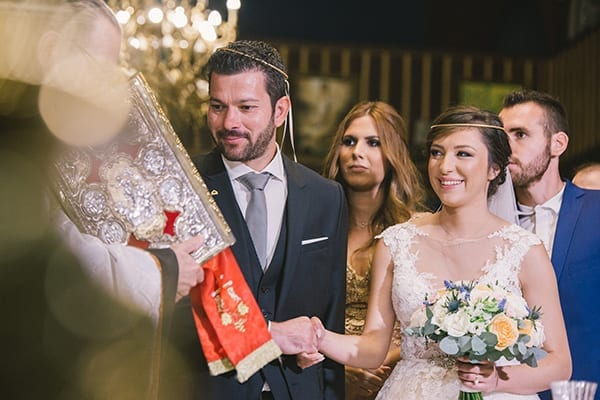 Στέφανα Laka Luka σε φθινοπωρινό γάμο με παστέλ χρώματα