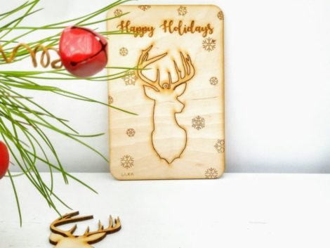 "Christmas greeting card ""Reindeer"""