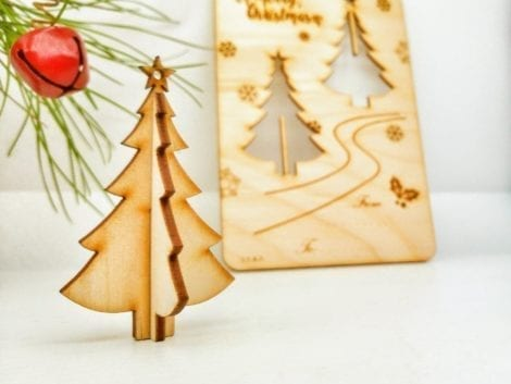 "Christmas greeting card ""Christmas Tree"""