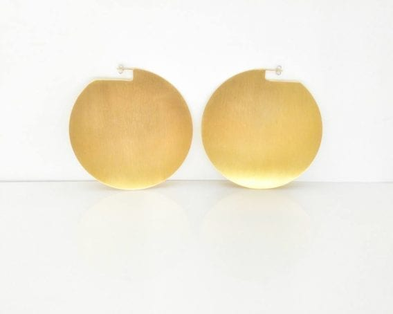 """Discos"" Oversized Earrings"