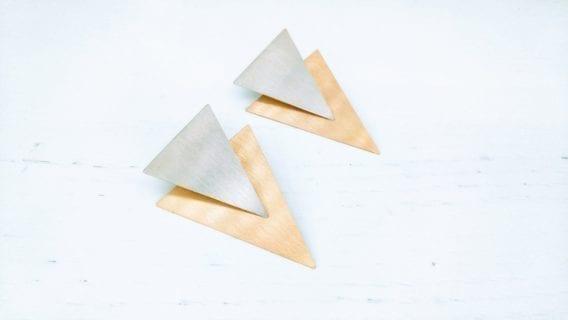 """""""Triangle"""" Ear Jacket Earrings"""