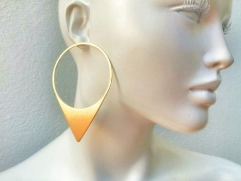 """Triangle Drop"" Earrings"