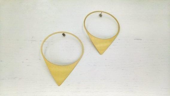 """""""Triangle Drop"""" Earrings"""