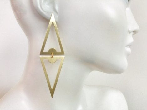 """Double Triangle"" Drop Earrings"