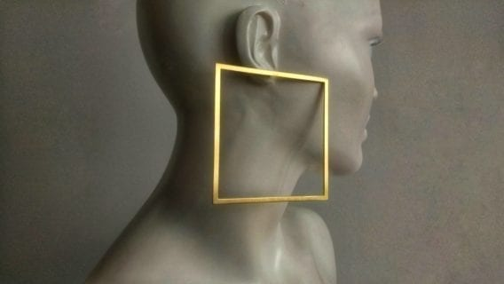 """Square Hoops"" Earrings"