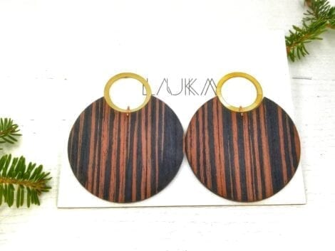 """Ebony Gold"" Earrings"